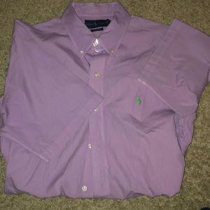 Ralph Lauren polo short sleeve BD shirt size Large